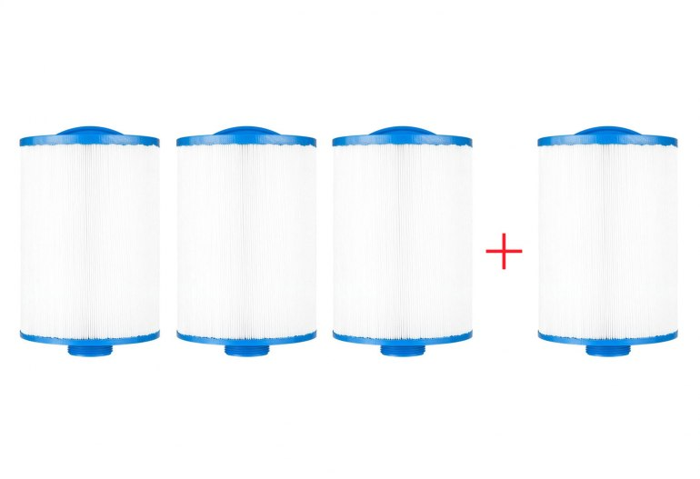 Pack 4x3 filtres courts pour spa