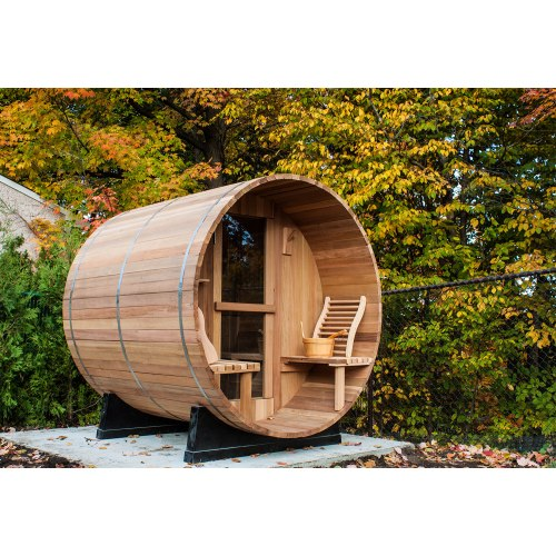 Sauna extérieur en forme de tonneau AF-001B
