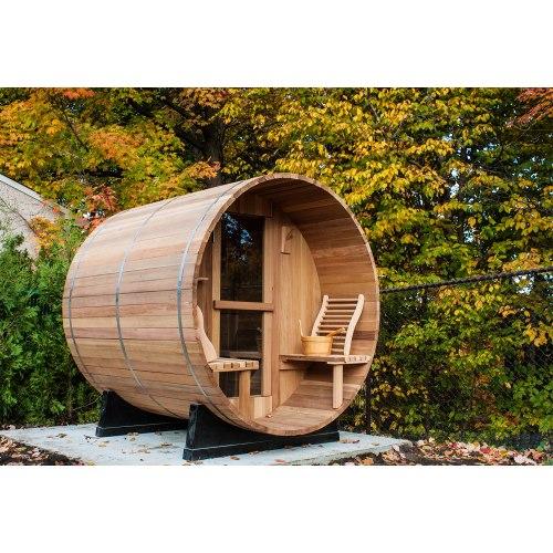 Sauna extérieur en forme de tonneau AF-002A