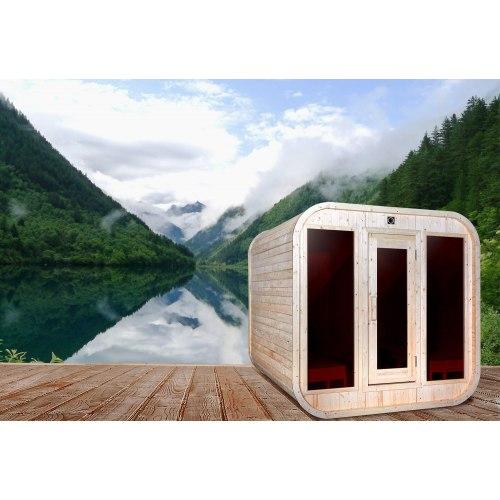Sauna extérieur en forme de porche AP-001A