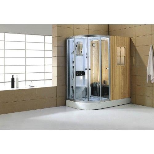 Sauna sec + hammam avec douche hydromassante AS-001
