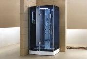 Cabine de douche hydromassante avec hammam AS-001B