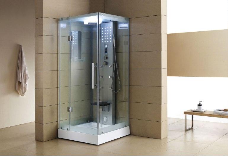 Cabine de douche hydromassante avec hammam AS-004A-1