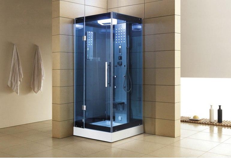 Cabine de douche hydromassante avec hammam AS-004B-1