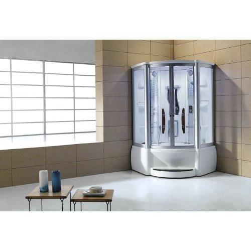 Cabine de douche hydromassante avec hammam et baignoire AT-010A