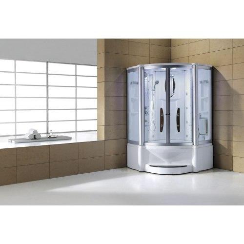 Cabine de douche hydromassante avec hammam et baignoire AT-010B