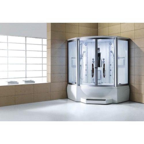 Cabine de douche hydromassante avec hammam et baignoire AT-010C