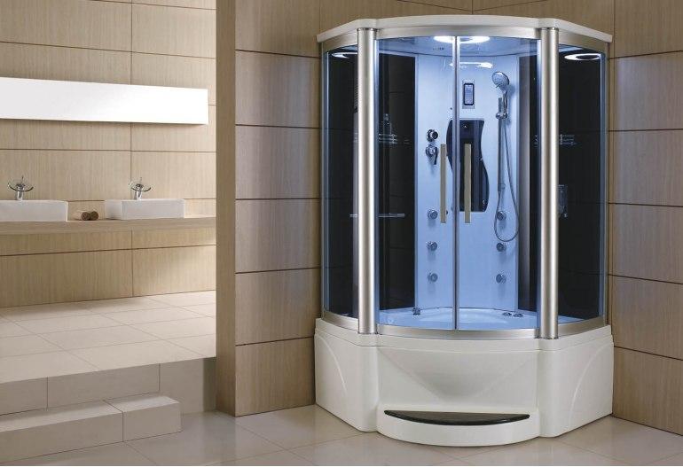 Cabine de douche hydromassante avec hammam et baignoire AT-011A