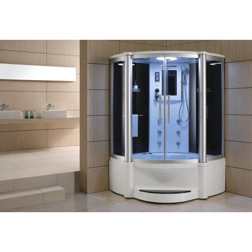 Cabine de douche hydromassante avec hammam et baignoire AT-011B