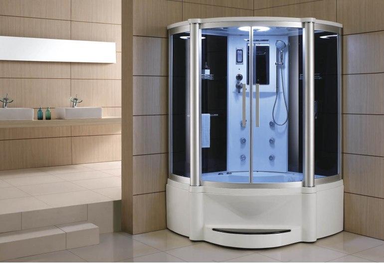 Douche et salle de bain avec sauna À-011B