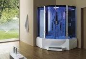 Cabine de douche hydromassante avec hammam et baignoire AT-011C