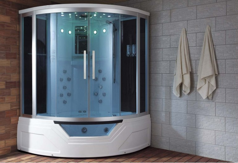 Cabine de douche hydromassante avec hammam et baignoire AT-012A