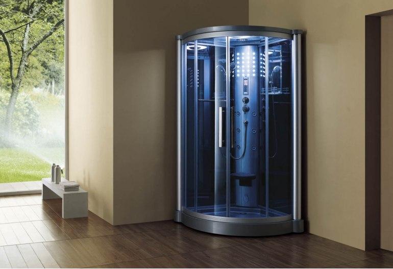 Cabine de douche hydromassante avec hammam AS-012