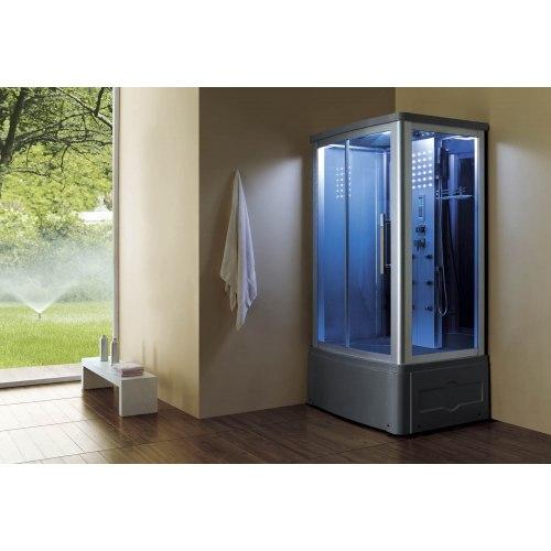 Cabine de douche hydromassante avec hammam et baignoire AT-014