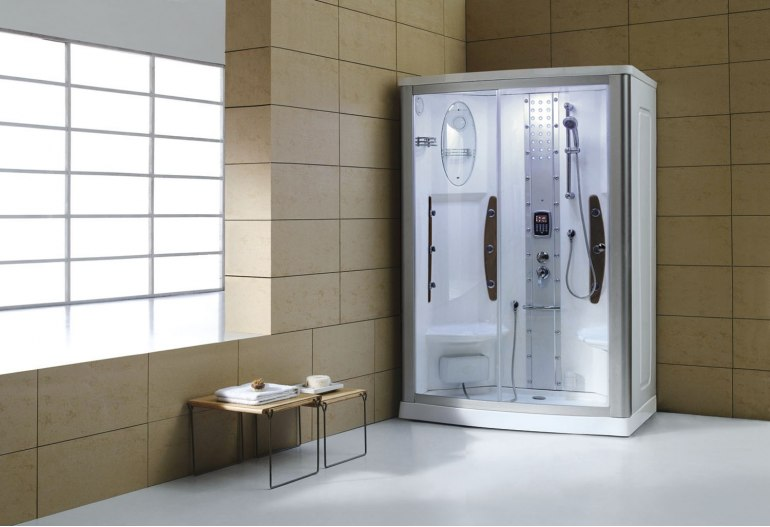 Cabine de douche hydromassante avec hammam AS-015