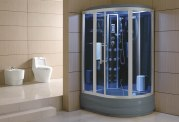 Cabine de douche hydromassante avec hammam et baignoire AT-006