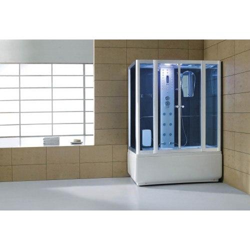 Cabine de douche hydromassante avec hammam et baignoire AT-008