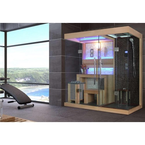¡ Sauna sec et hammam avec douche AT-001A !