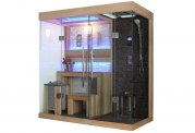 Sauna sec et hammam avec douche AT-001C