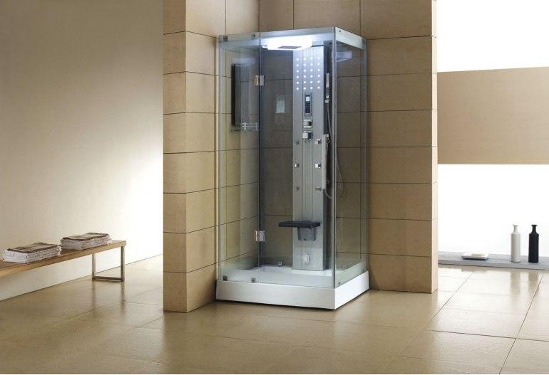 Cabine de douche hydromassante avec hammam AS-005A-2