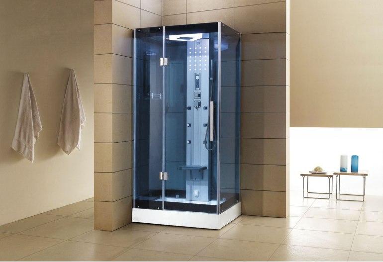 Cabine de douche hydromassante avec hammam AS-005B-2