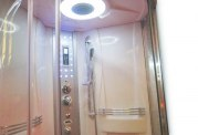 Cabine de douche hydromassante avec hammam et baignoire AT-001-2
