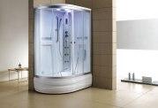 Cabine de douche hydromassante avec hammam et baignoire AT-004-2