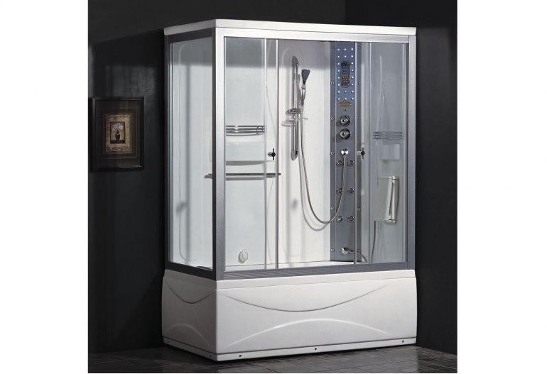 Cabine de douche hydromassante avec hammam et baignoire AT-007A