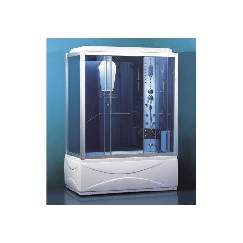 Cabine de douche hydromassante avec hammam et baignoire AT-007B