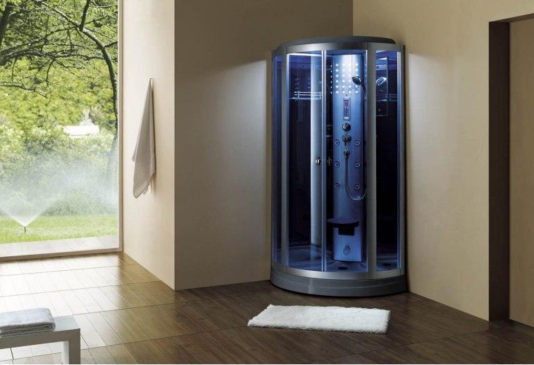 Cabine de douche hydromassante avec hammam AS-018-2