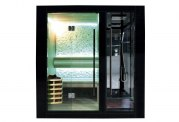 Sauna sec et hammam avec douche AU-001A
