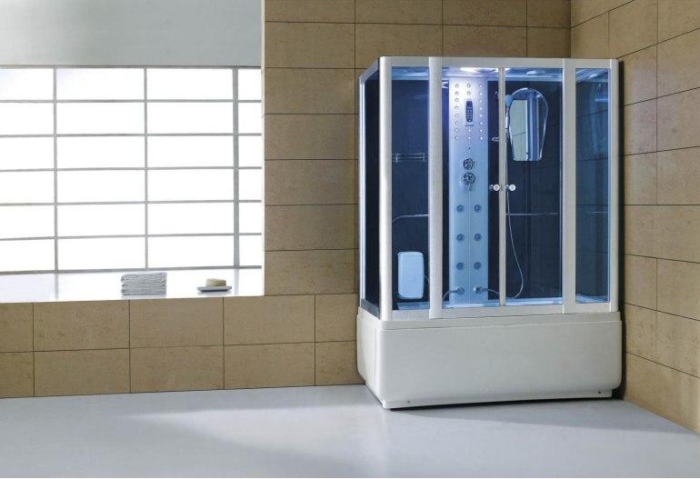Cabine de douche hydromassante avec hammam et baignoire AT-008B