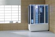 Cabine de douche hydromassante avec hammam et baignoire AT-008C